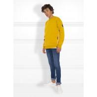 Nik en Nik boys Keagan sweater trui in de kleur mustard yellow geel