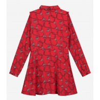 Nik en Nik girls jurk Chainy dress in de kleur poppy red