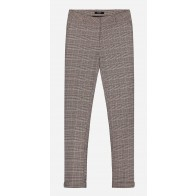 Nik en NIk girls geruiten broek Crawley pants in de kleur bruin/beige