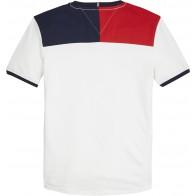 Tommy Hilfiger t-shirt met logoblock in de kleur wit