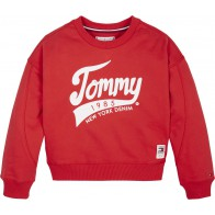 Tommy Hilfiger kids girls sweater trui logo print in de kleur rood