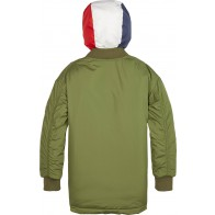 Tommy Hilfiger boys jas hooded flight parka in de kleur army green