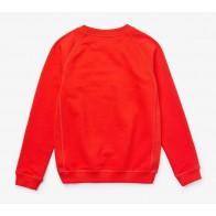 Lacoste kids boys sweater trui met geborduurde krokodil in de kleur oranje