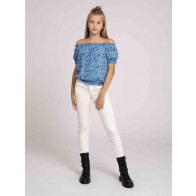 Nik en Nik kids girls Bracha top met bloemen print in de kleur fresh blue