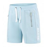 Malelions kids korte sweat broek logo sweatshort in de kleur lichtblauw