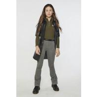 AI&KO girls flared Chiara check geruite broek in de kleur zwart/geel