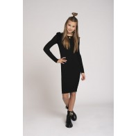 Nik en Nik kids girls jurk Albani jolie dress in de kleur black zwart