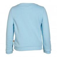Le Big girls sweater trui met glitter strijk pailletten in de kleur lichtblauw