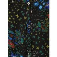 Zadig en Voltaire jurk Karo dress met all over print in de kleur zwart