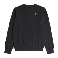 Lyle and Scott junior boys fijngebreide sweater trui in de kleur zwart
