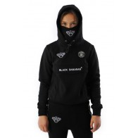 Black Bananans kids Mask hoody sweater trui met mondkapje in de kleur black zwart