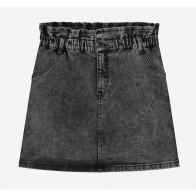 Nik en Nik girls Feline denim skirt in de kleur antraciet grijs