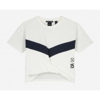 Nik en Nik girls Ada sport t-shirt cropped in de kleur off white