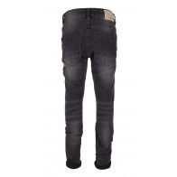 Indian blue jeans black Jay tapared fit in de kleur black denim