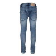 Indian blue jeans blue brad super skinny fit jeans in de kleur jeansblauw