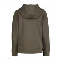 Hugo Boss kids hooded sweatvest met logo bies in de kleur army green groen