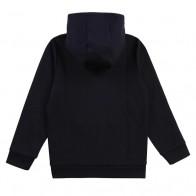 Hugo Boss kids hoodie zip through vest met goud logo in de kleur donkerblauw