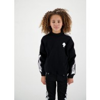 Reinders kids girls sweater trui met logo band in de kleur zwart