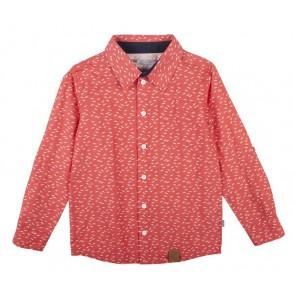 Rumbl blouse met zwaluwen in de kleur rood