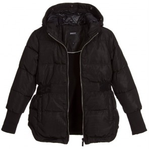 DKNY parka winterjas met afneembaar bontje in de kleur zwart