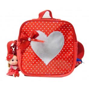 Zebra tas schoudertas stipjes incl. popje limited edition in de kleur rood