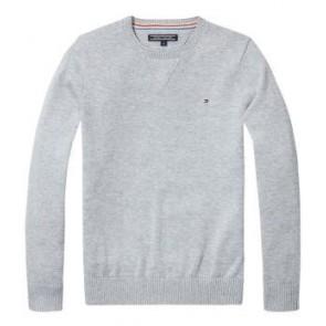 Tommy Hilfiger fijngebreide trui nos in de kleur grijs