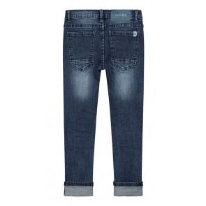 NIK&NIK jeans broek Franco slim fit met scheuren in de kleur jeansblauw