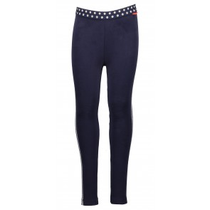Nono zachte legging met zilveren bies in de kleur donkerblauw