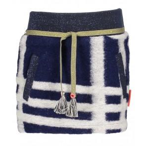 Nono rok met strepen en glitter boord in de kleur blauw/creme