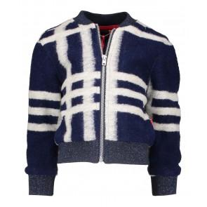 Nono dik vest met strepen en glitter boord in de kleur blauw/creme