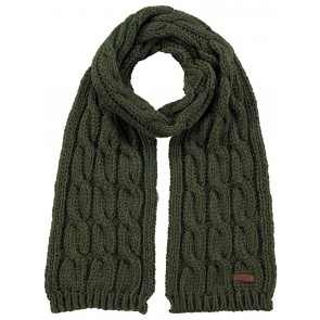 Barts kids sjaal JP cable in de kleur army green groen