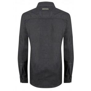 Indian blue jeans denim blouse in de kleur antraciet grijs
