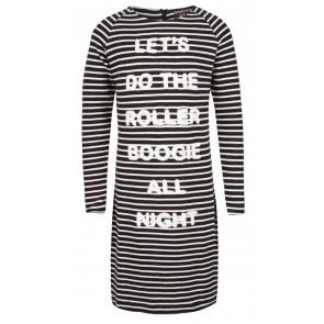 Indian blue jeans striped dress jurk Roller in de kleur zwart/wit