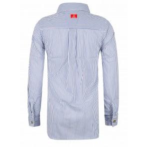 Indian blue jeans gestreepte blouse met patches in de kleur lichtblauw
