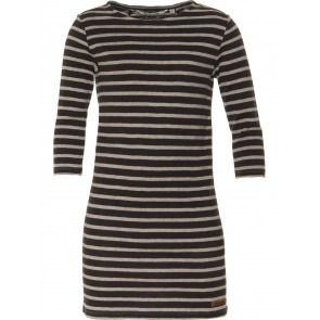 Moscow kids jurk dress striped cotton jersey grijs/zwart