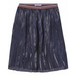 Scotch R'belle plisée glans rok in de kleur donkerblauw