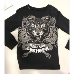 My Brand longsleeve shirt tiger fighter dragon in de kleur zwart