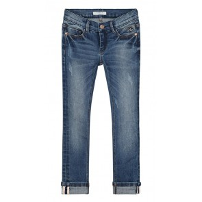 NIK&NIK jeans broek Fiona denim skinny in de kleur mid blue