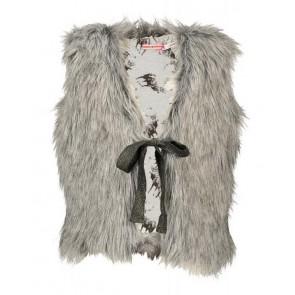 Nono bont gilet fake fur in de kleur grijs