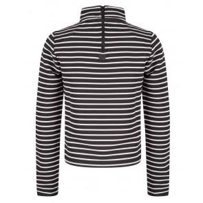 Indian blue jeans striped col shirt in de kleur zwart/wit