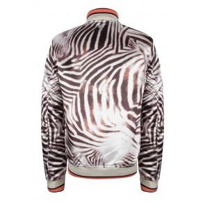 Indian blue jeans jas zomerjas bomber jacket met zebra print
