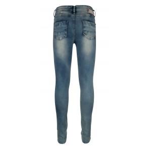 Indian blue jeans broek blue jazz super skinny fit in een lichte wassing