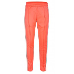 Indian blue jeans sports pants in de kleur bright coral-oranje