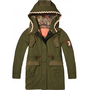 Scotch R'belle jas parka in de kleur groen