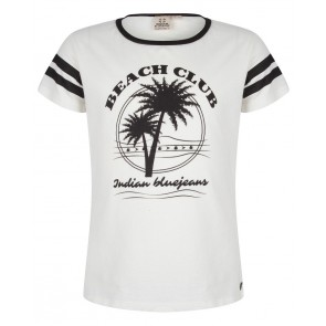 Indian blue jeans shirt beach club in de kleur off white