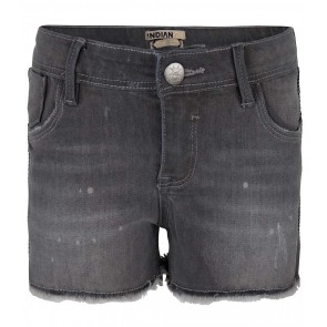 Indian blue jeans grey nova shorts broek in de kleur grey denim grijs