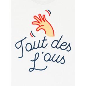 Le Cheaque shirt 'Tout des Lous' (toedeloe) in de kleur wit
