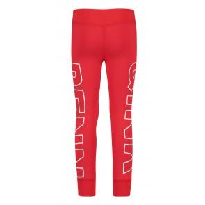 Penn en Ink kids zachte broek met logo print in de kleur rood