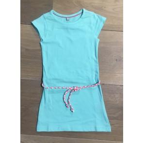D-rak jersey jurk met riempje in de kleur mintgroen