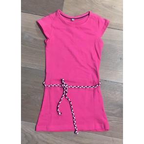 D-rak jersey jurk met riempje in de kleur roze